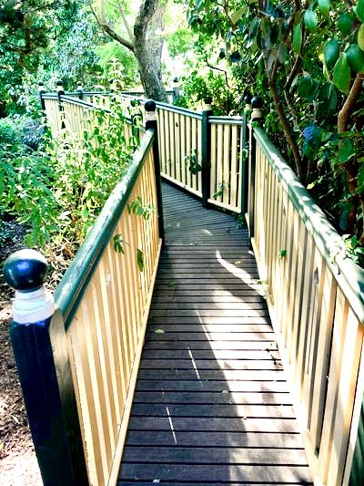Sensory garden viewing platform and bridge