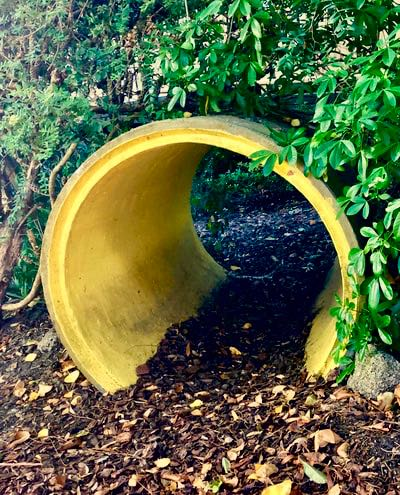 Sensory garden pipe tunnel